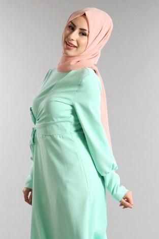 - Yelek Görünümlü Bağcıklı Elbise 5630-03 (1)