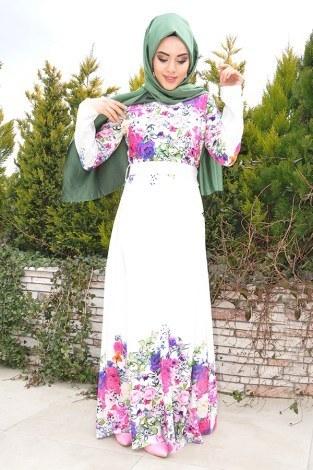 - Yeni Sezon Çiçekli Elbise 1881