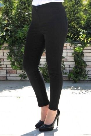 Kombin - Yüksek Bel Pantolon 22342-10 siyah.
