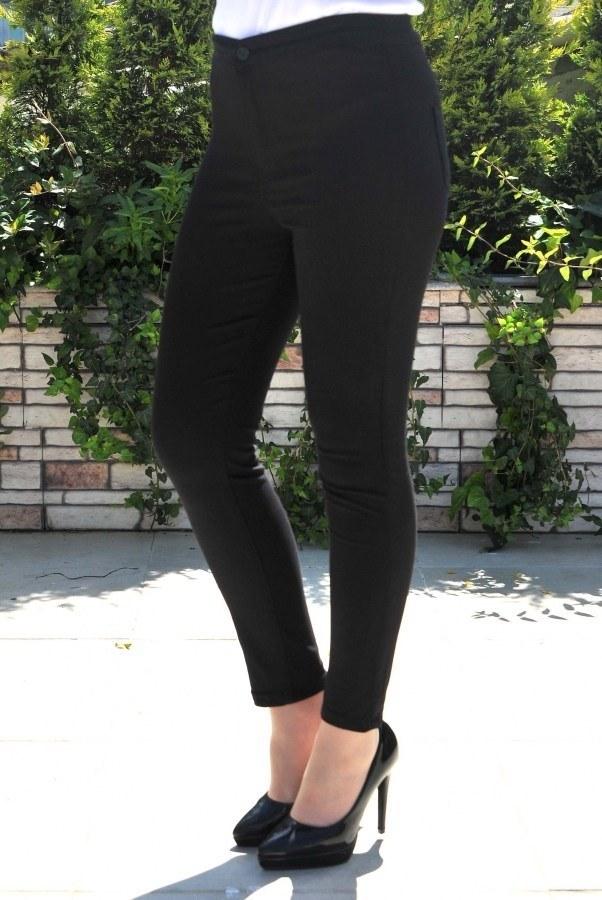 Yüksek Bel Pantolon 22342-10 siyah.
