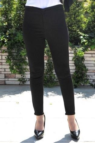 Kombin - Yüksek Bel Pantolon 22342-10 siyah. (1)