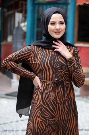 - Zebra Desenli Elbise 8508-389 (1)