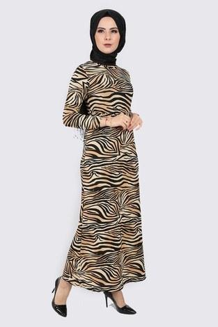 - Zebra Desenli Elbise 8508-400 (1)